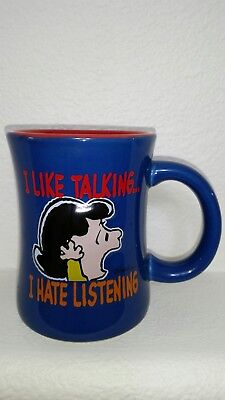 Peanuts Lucy Embossed Camp Snoopy Mug Cup
