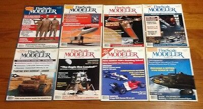 Fine Scale Modeler Magazine 1989 Back Issues Lot Of 8 GOOD CONDITION