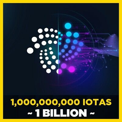 IOTA CryptoCurrency 1 BILLION IOTA (1,000,000,000) 1Gi To Your Wallet In Minutes