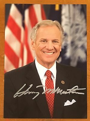 HENRY McMASTER, 100% AUTHENTIC AUTOGRAPHED PHOTO ! SOUTH CAROLINA GOVERNOR