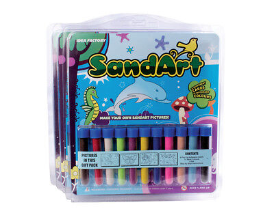 Sand Art Gift Pack 11 Colour Sand & 4 Cards.