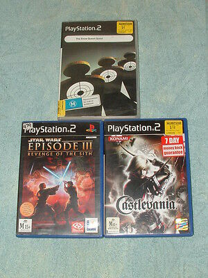 3 PlayStation 2 games: STARS WARS Episode lll, Revenge of the Sith & more.