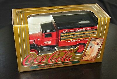 """1993 Ertl """"coca-Cola"""" Die-Cast Metal Early Delivery Truck With Bank"""