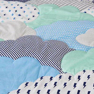 ADAIRS KIDS Blue Clouds COT/JUNIOR BED QUILTED Quilt COVER SET BNIP lightning