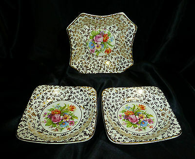 Deceased Estate - Vintage 1950's Empire England Porcelain 3 X Dishes - Vgc