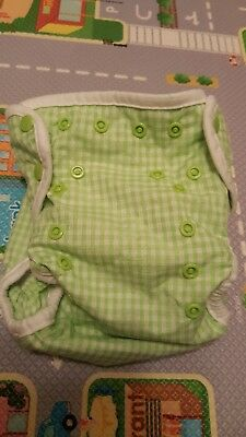 Seedling Baby - Paddle Pants - Green. Never used reusable nappy.