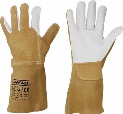 Premium Leather TIG Welders Welding Gardening Gardeners Gloves
