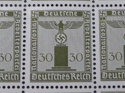 Ww2 Genuine 100 Nazi Hitler Party Stamps In A Full  Sheet! Super Rare As A Sheet