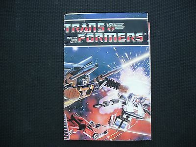 Original 1984 Vintage Hasbro Transformers G1,Pamphlete, brochure,catalogue,paper
