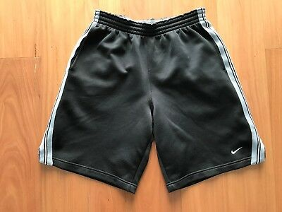 Nike Dry Fit Athletic Running Basketball Gym Mens Black Shorts Size M