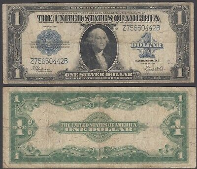 USA 1 Dollar 1923 (F) Condition Banknote Silver Certificat?e Blue Seal
