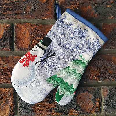 BRAND NEW Christmas Oven Mitt / Glove ~ Snowman and Xmas Tree