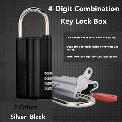 4 Digit Combination Password Safe Key Box Lock Storage Estate Padlock Holder