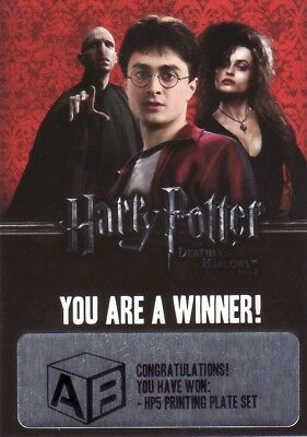 Harry Potter & the Deathly Hallows Part 2 Unredeemed Winner Redemption Card a