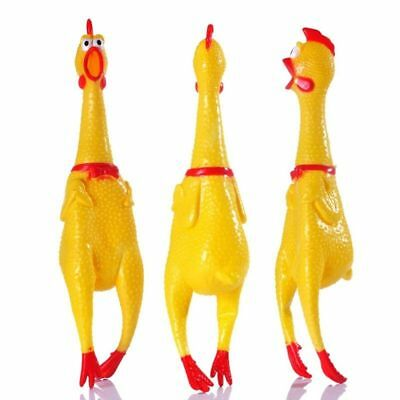 Screaming Rubber Chicken Squeaky Pet Bulk Tough Dog Chew Treat Toy Gift