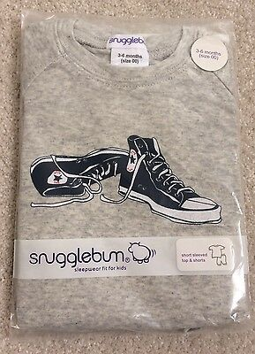 Snugglebum Sleepwear Boys Short Sleeve Top And Shorts (size 3-6 Months 00) B/new