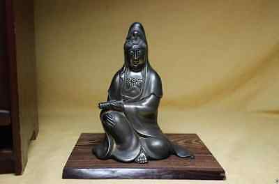 Sterling silver made Kannon · 535 g · Shinra China Buddha statue from Japan