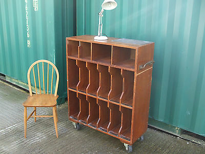 Vintage 1930s haberdashery shop display trolley, mahogany with brass fittings