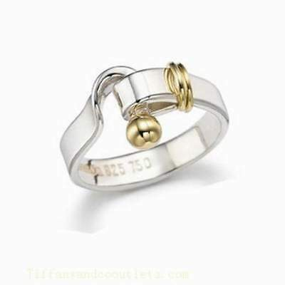 100% Genuine Tiffany & Co ring - sterling silver and 18k gold