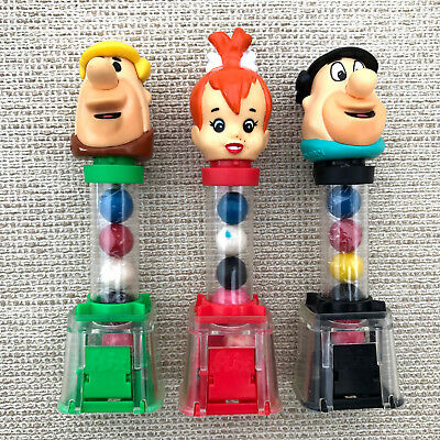 Hannah Barbera FLINTSTONES FEUERSTEIN  Kaugummi Spender Despenser SET USA 1994