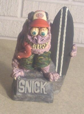 """Rare Pro Painted Ed """"big Daddy"""" Roth Johnny Ace Rat Fink Snick Resin Figure 7"""""""