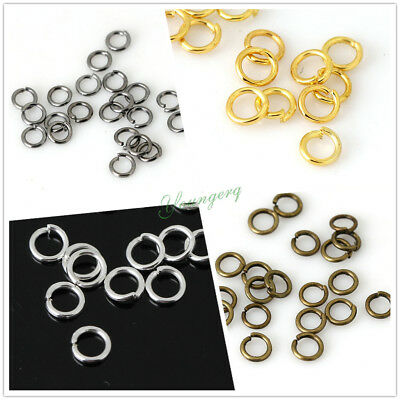 Wholesale Open Jump Rings Silver Gold Bronze Black 4mm 5mm 6mm 7mm 8mm 10mm 12mm