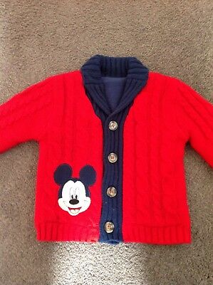 George Mickey Mouse Lined Cardigan 12-18 Months