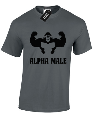 Alpha Male Mens T Shirt Gorilla Gym Training Top Bodybuilding Gift S - 5Xl