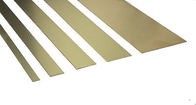 """K&S Brass Strips - Widths 1/4"""" - 2"""" Various Thickness 12"""" Long Precision Metals"""