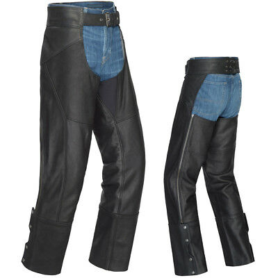 Tour Master Nomad Leather Motorcycle Chaps