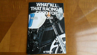 Yamaha RD -  250cc LC colour brochure