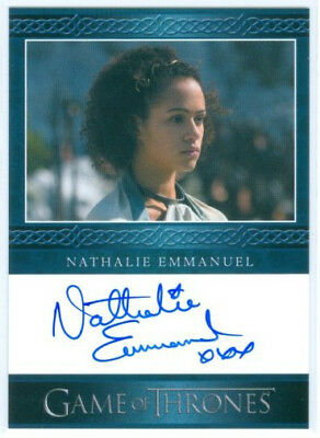 "Nathalie Emmanuel ""missandei Autograph Card"" Game Of Thrones Season 4"