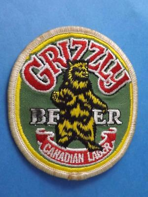 Grizzly Bear Beer Canadian Lager Vintage Patch Brewery Advertising Collector