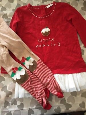 Next Girls Christmas Outfit12-18 Months