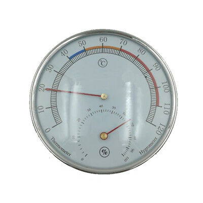 5-inch Dial Thermometer Hygrometer Sauna Room Silver Hygro-thermometer