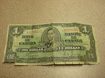 1937 - Canada one dollar bill - $1 Canadian note - LN9270535