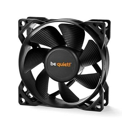 Be Quiet 80 mm Black Case Fan 3 Pin - Pure Wings 2 Ultra Silent Cooling (BL044)