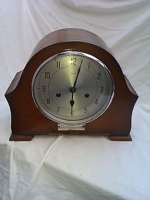 A Vintage Chiming Mantle Clock In Full Working Order