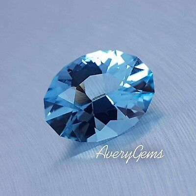 Aquamarine Gemstone 5.6 Ct Precious Gemstone Precision Cut By AveryGems