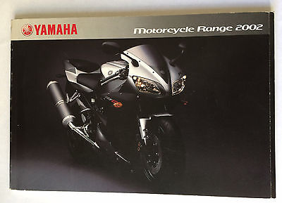 YAMAHA RANGE SALES BROCHURE 2002 Dragstar Fazer Bulldog Scooters 92ps Motorcycle