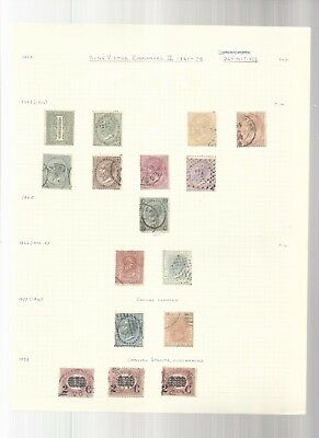 Italy earlier stamps on old pages. general lot