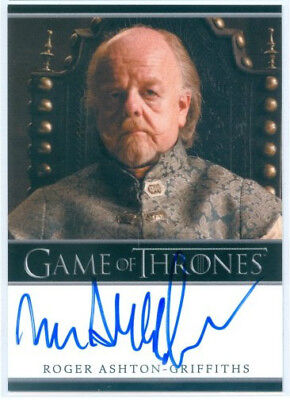 """Roger Ashton-Griffiths """"mace Tyrell Limited Autograph"""" Game Of Thrones Season 4"""