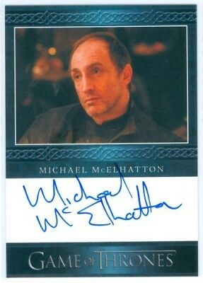 """Michael Mcelhatton """"roose Bolton Limited Autograph"""" Game Of Thrones Season 4"""