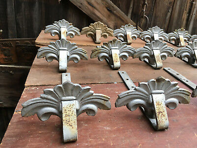 QTY=16 ANTIQUE DECORATIVE CAST IRON ROOF MOUNT SNOWBIRDS SNOW ICE GUARDS c1902