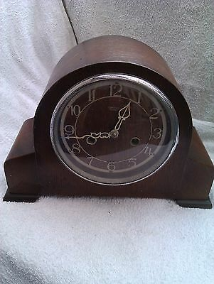 A Very Old Chiming Mantle Clock In Full Working Order