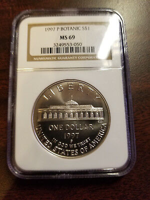 1997 P Botanic Garden Silver Commemorative Dollar $1 MS69 NGC