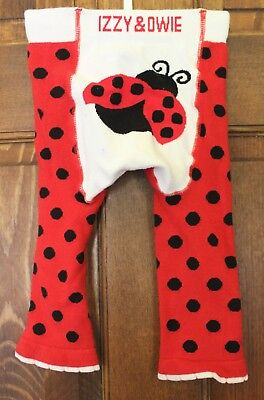 GUC Pre-Owned Issy & Owie Ladybug pants/leggings 12-24 months - free shipping