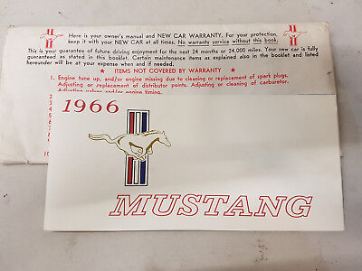 Ford Mustang 1966 Owner´s Manual Bedinungsanleitung