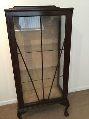Antique Victorian / Edwardian display cabinet can Deliver
