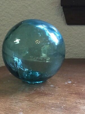 Vintage Glass Fishing Float Tri Mold 3 in